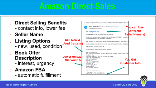 Book Marketing Tip – Sell Direct on Amazon