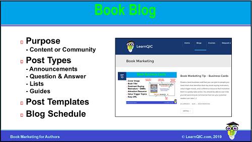 Book Marketing Tip – Blog
