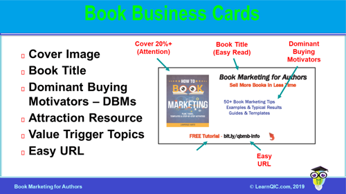 Marketing Tip – Book Business Cards