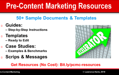 Pre-Content Marketing Guides, Templates, and Sample Documents