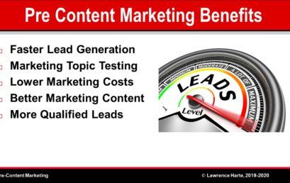 Pre-Content Marketing Benefits
