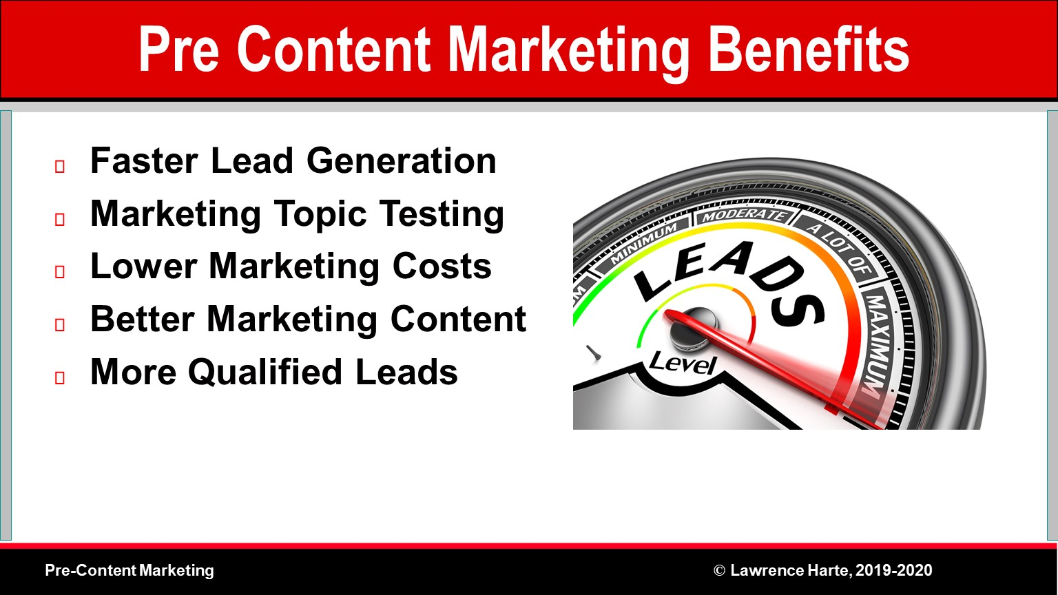 Pre-Content Marketing Benefits