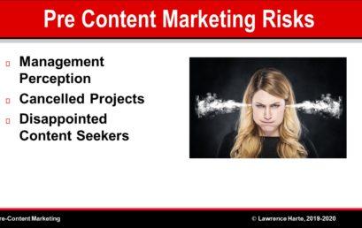 Pre-Content Marketing Risks