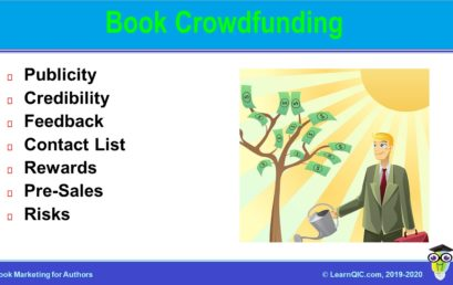 Book Crowdfunding for Publicity, Credibility, and Money