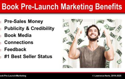 Author Book Pre-Launch Marketing Benefits