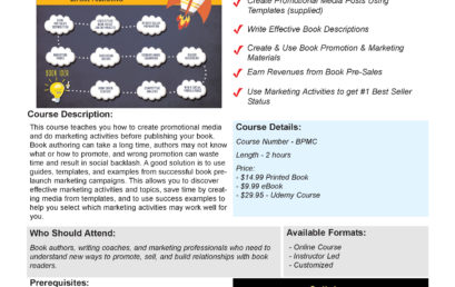 Book Pre-Launch Marketing Book and Course