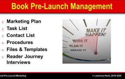 Book Pre-Launch Marketing Management