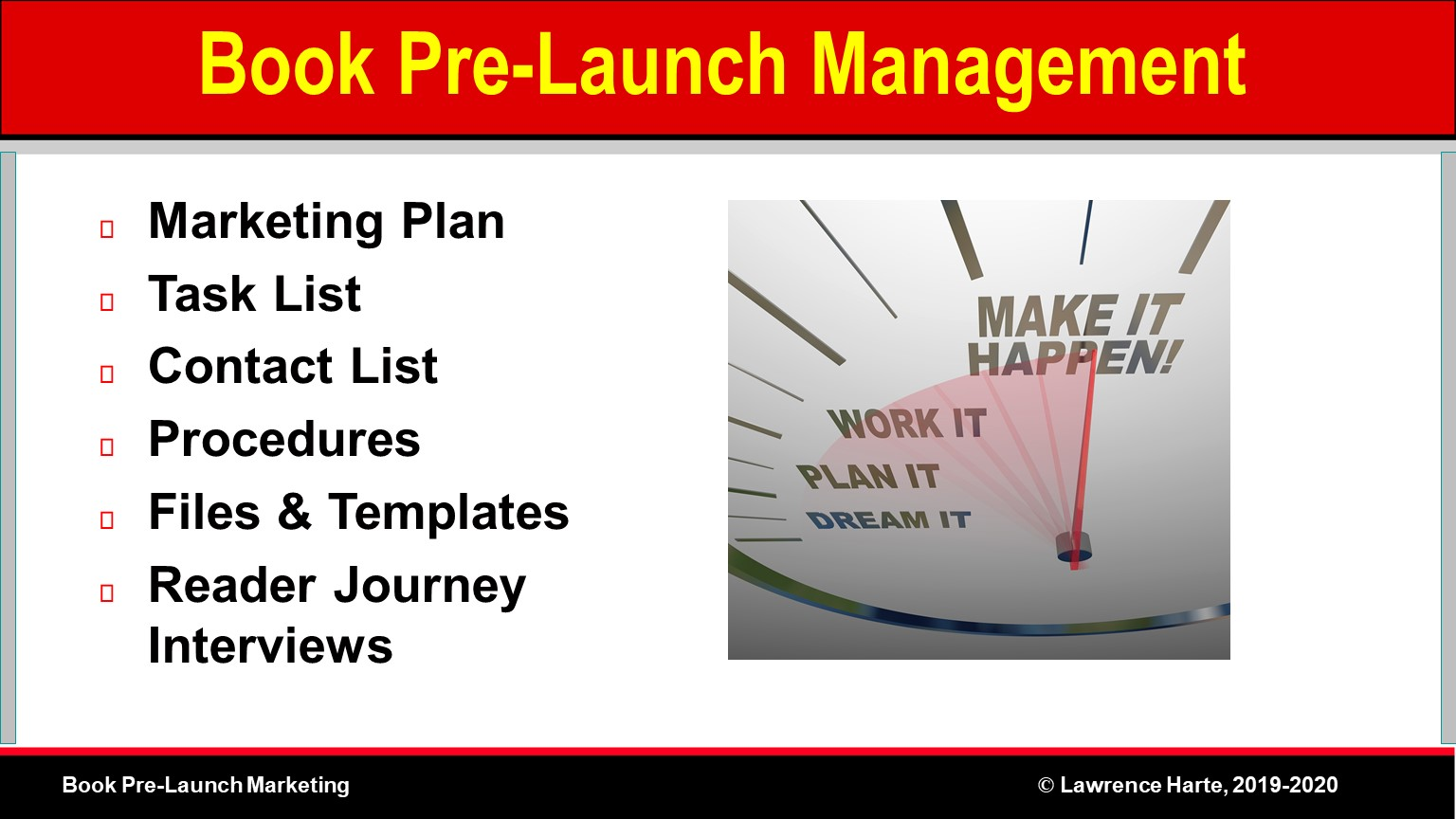 Book Pre-Launch Marketing Management