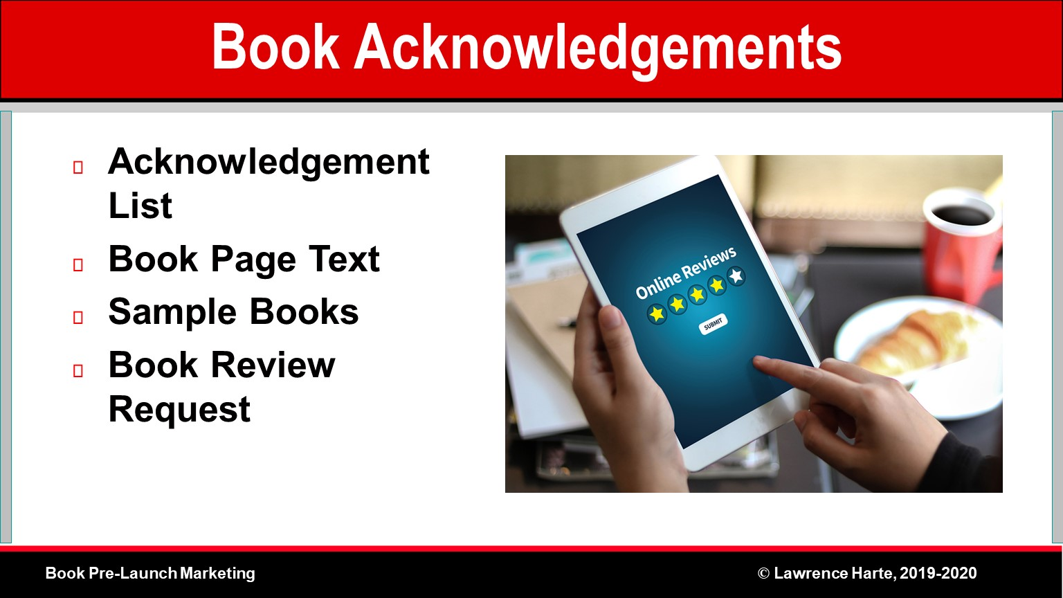 Book Acknowledgements for Author Credibility, Reviews, and Promotion