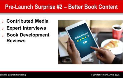 Book Pre-Launch Marketing Improves Book Content