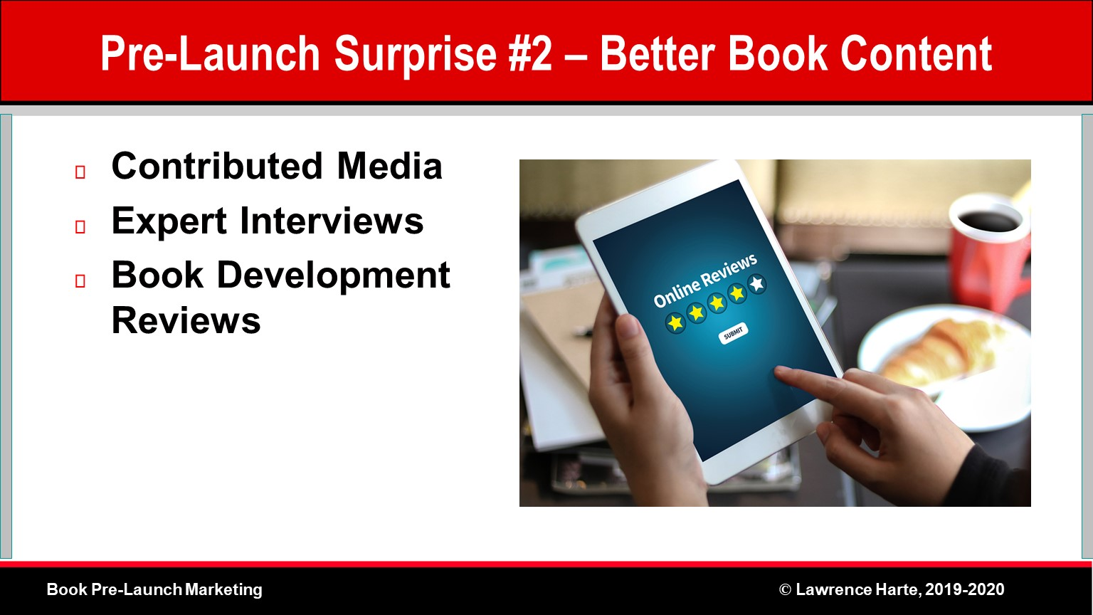 Book Pre-Launch Marketing Improves Book Content