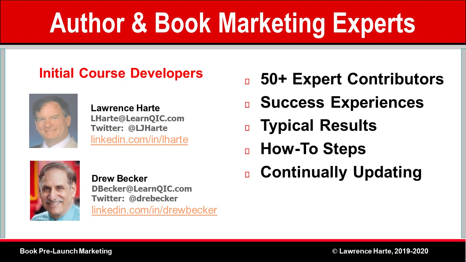 Book Pre-Launch Marketing Course Developers