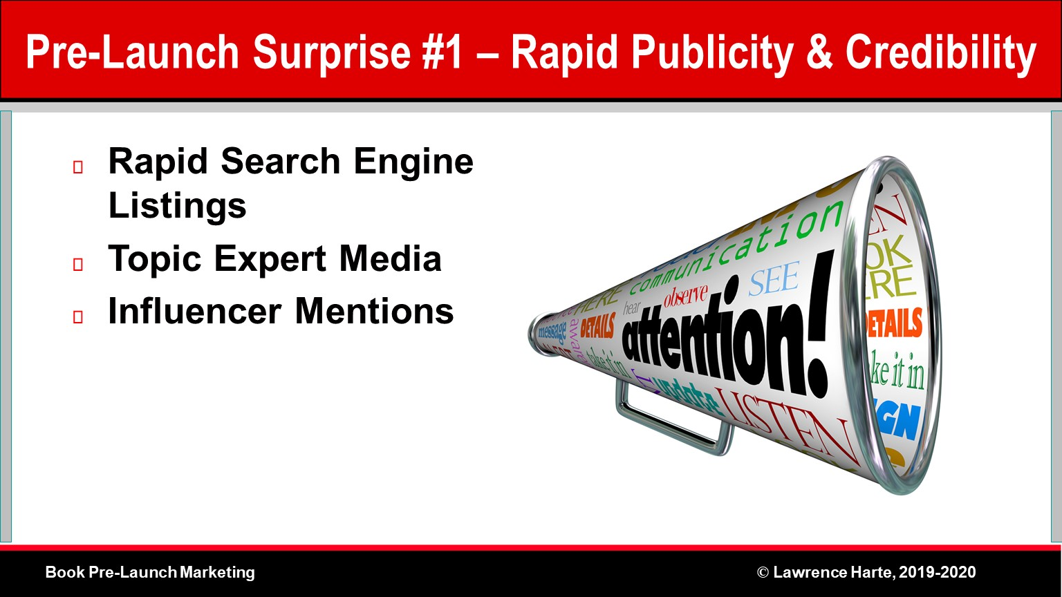 Book Pre-Launch Marketing Rapid Publicity and Credibility