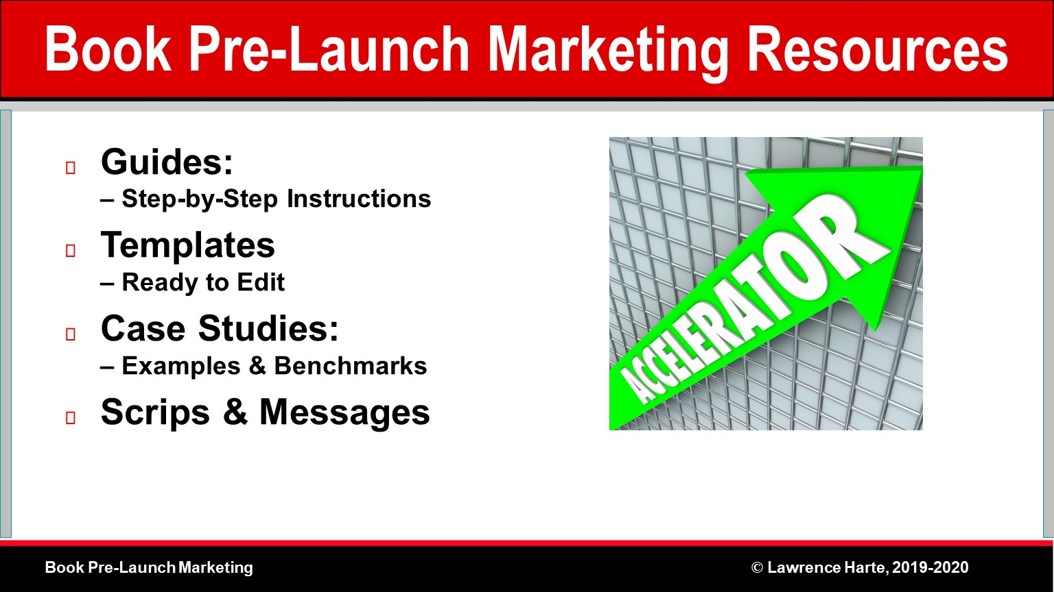 Book Pre-Launch Marketing Resources