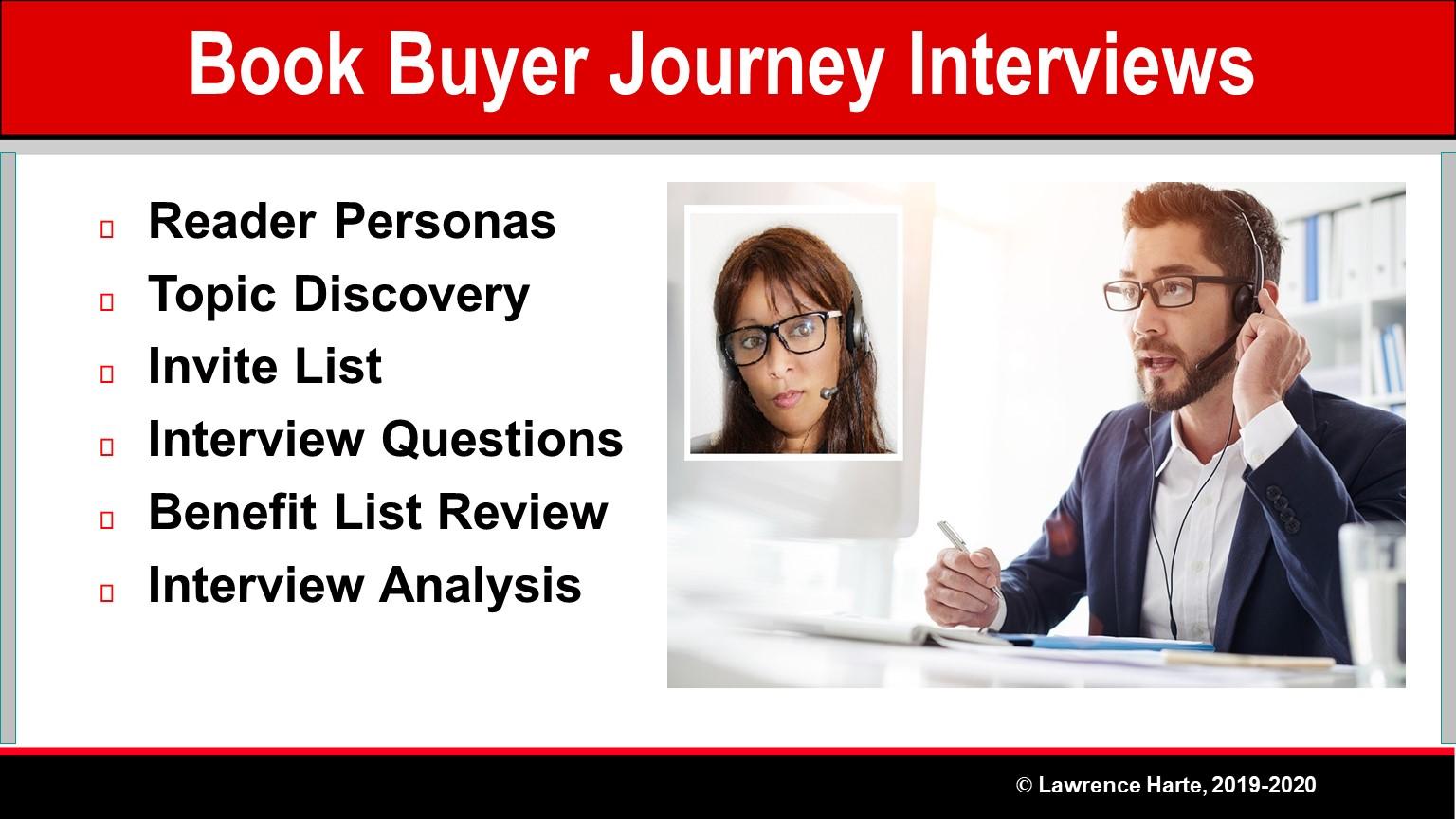 Book Pre-Launch Buyer Journey Interviews