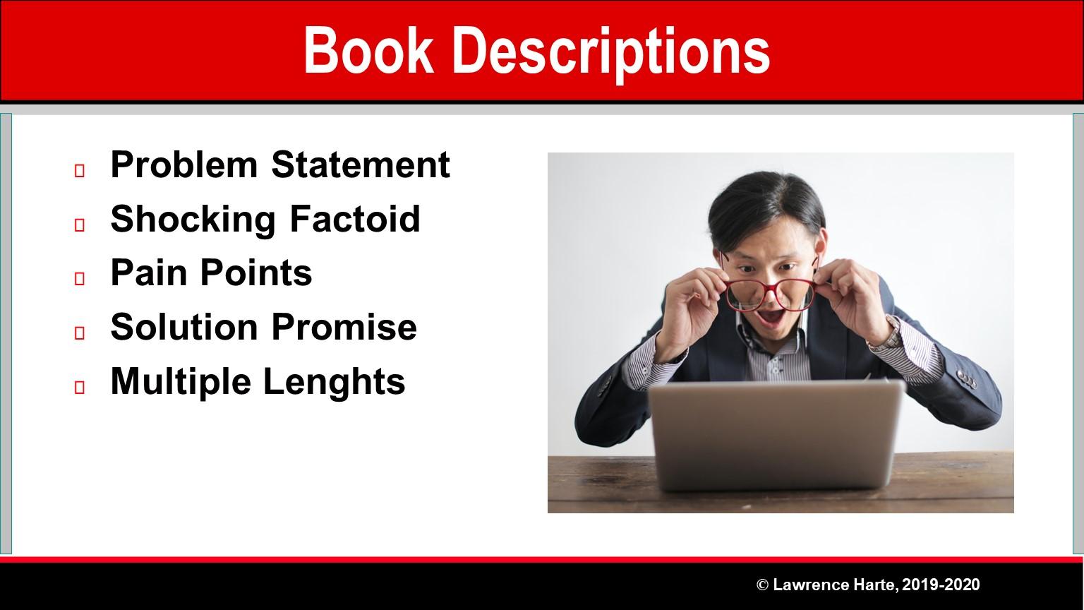 Pre-Launch Marketing Book Descriptions