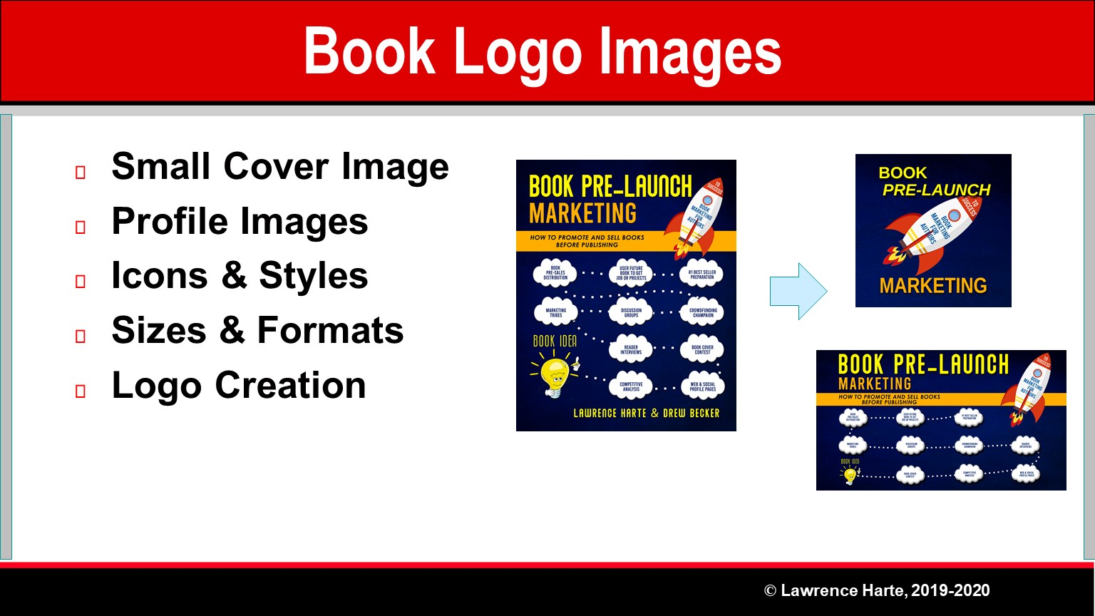 Book Pre-Launch Marketing Cover Logo Images