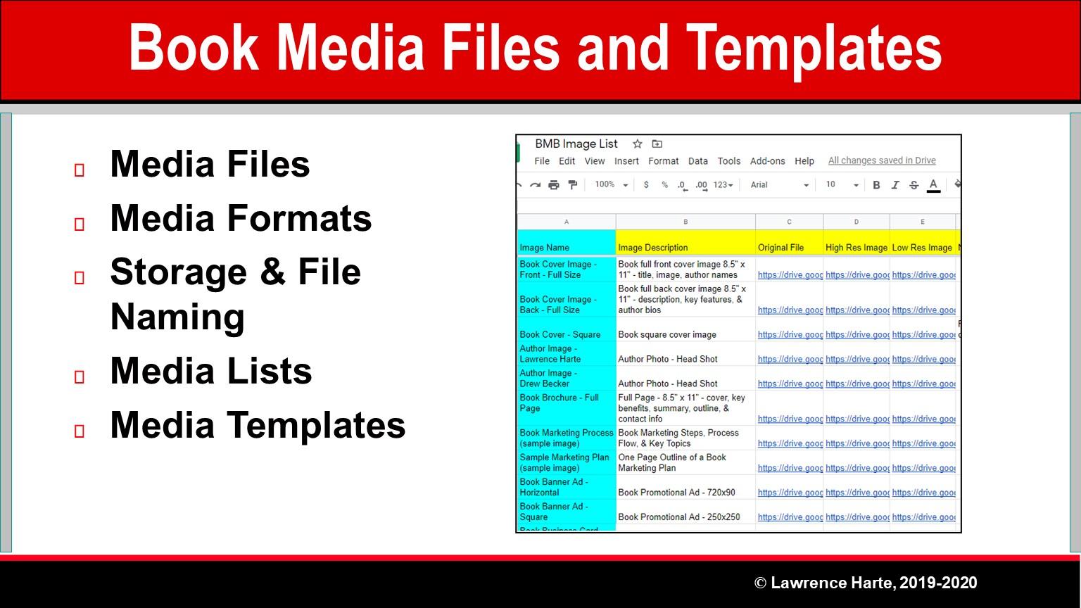 Book Pre-Launch Marketing Media Files