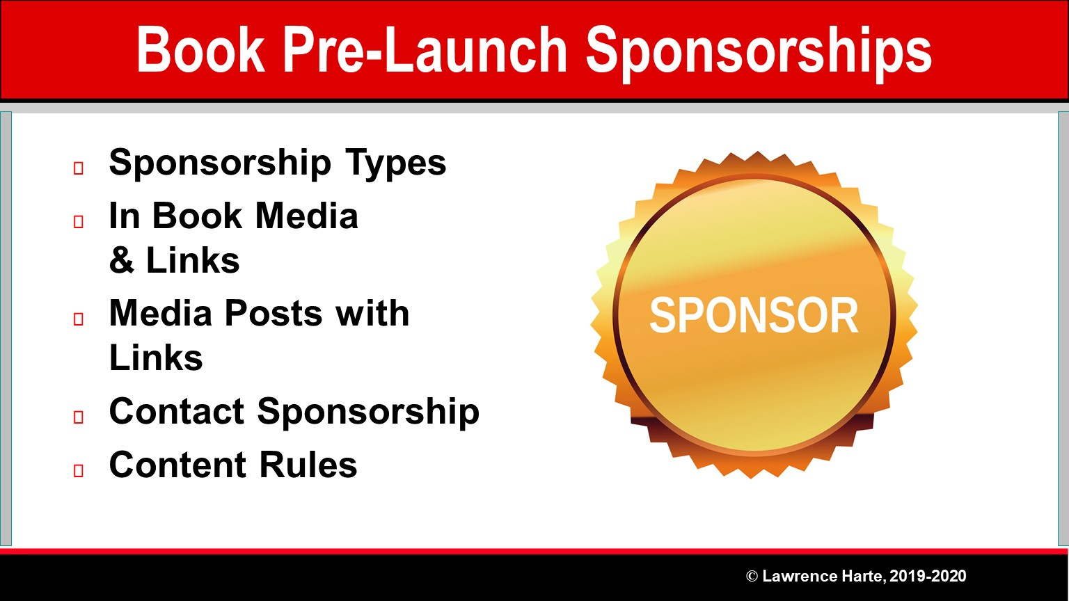 Book Pre-Launch Marketing Sponsorships