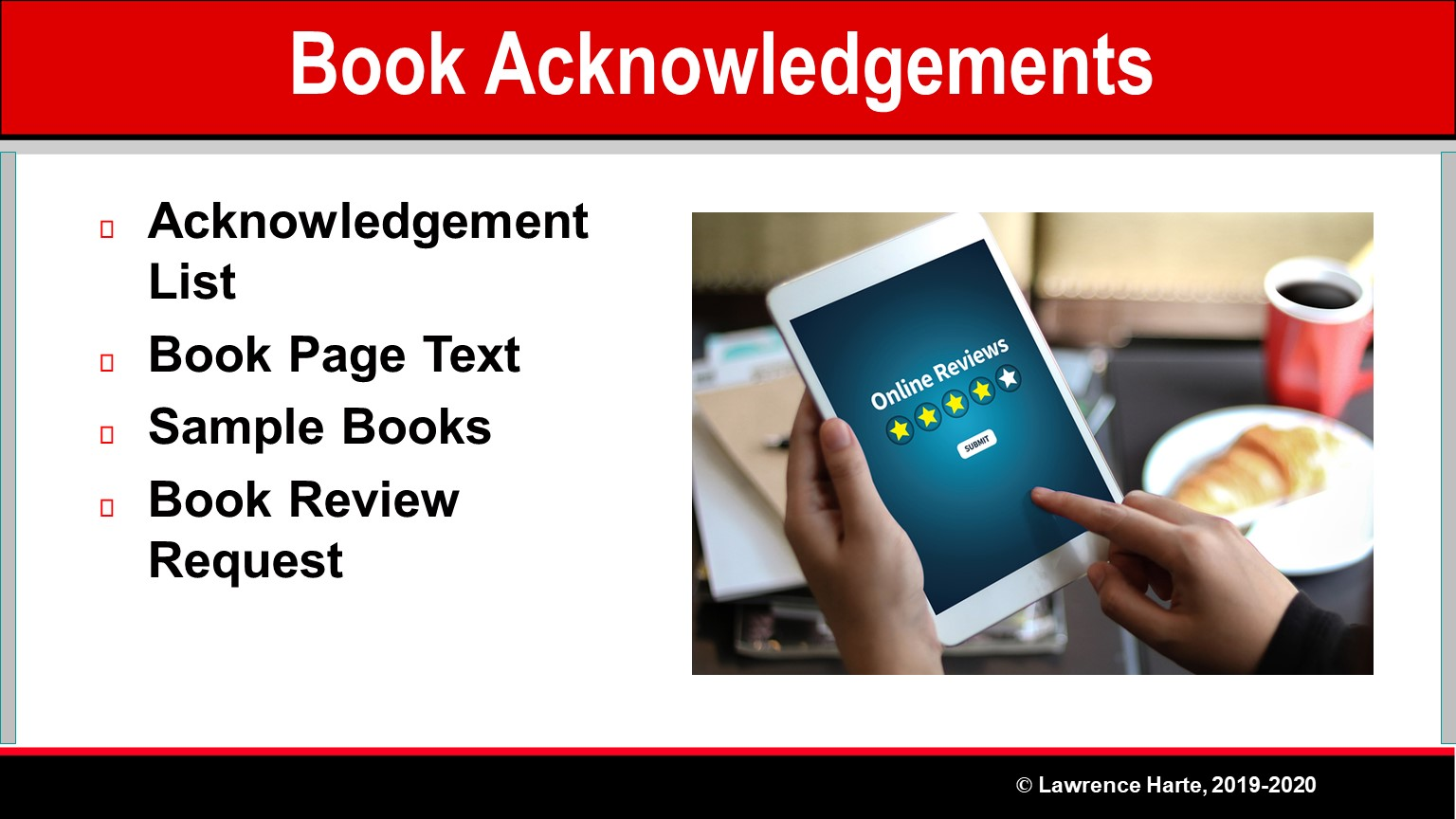 Book Pre-Launch Marketing Acknowledgements and Reviews
