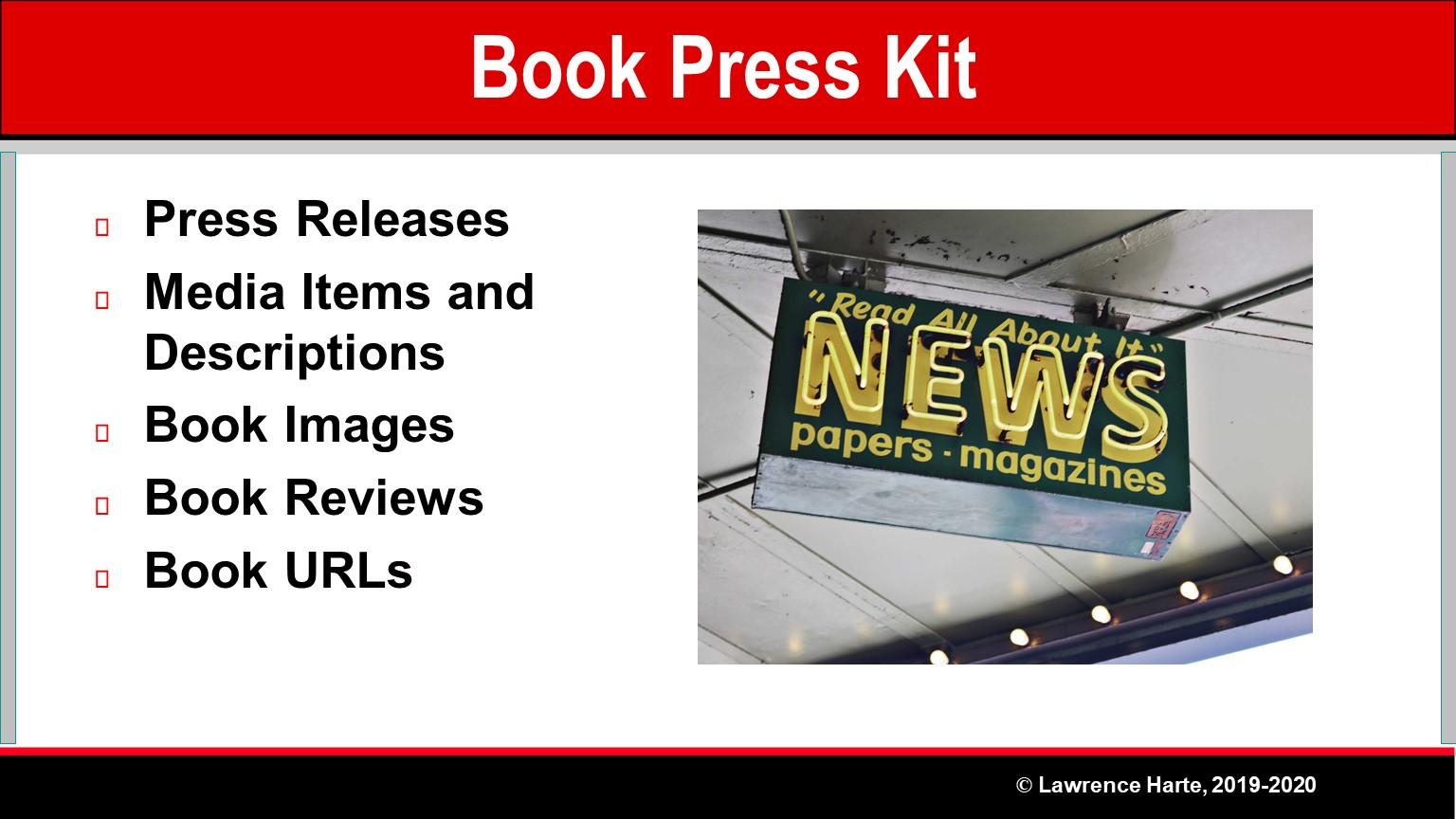 Book Pre-Launch Marketing Press Kit