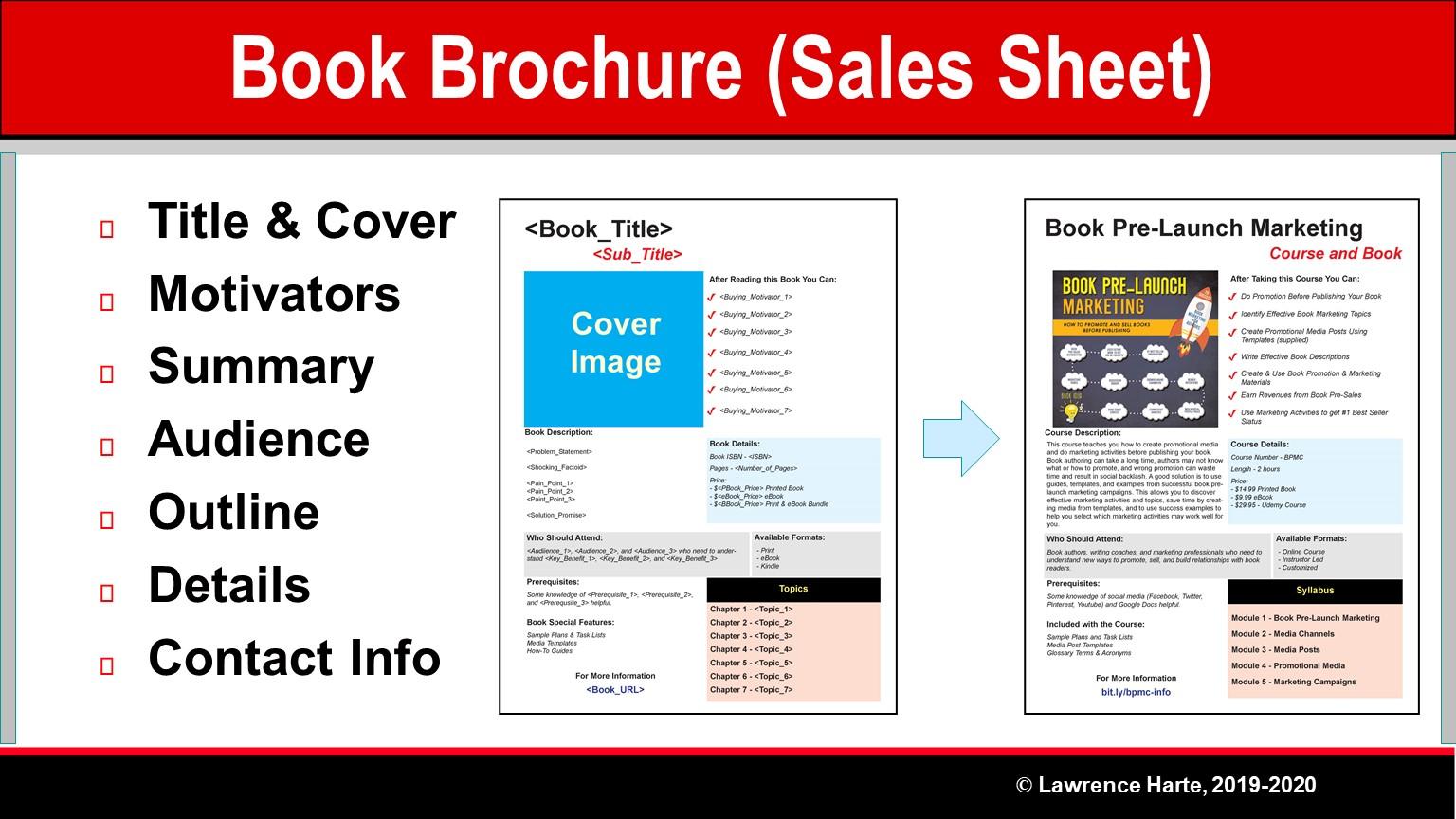 Book Pre-Launch Brochure Sales Sheet