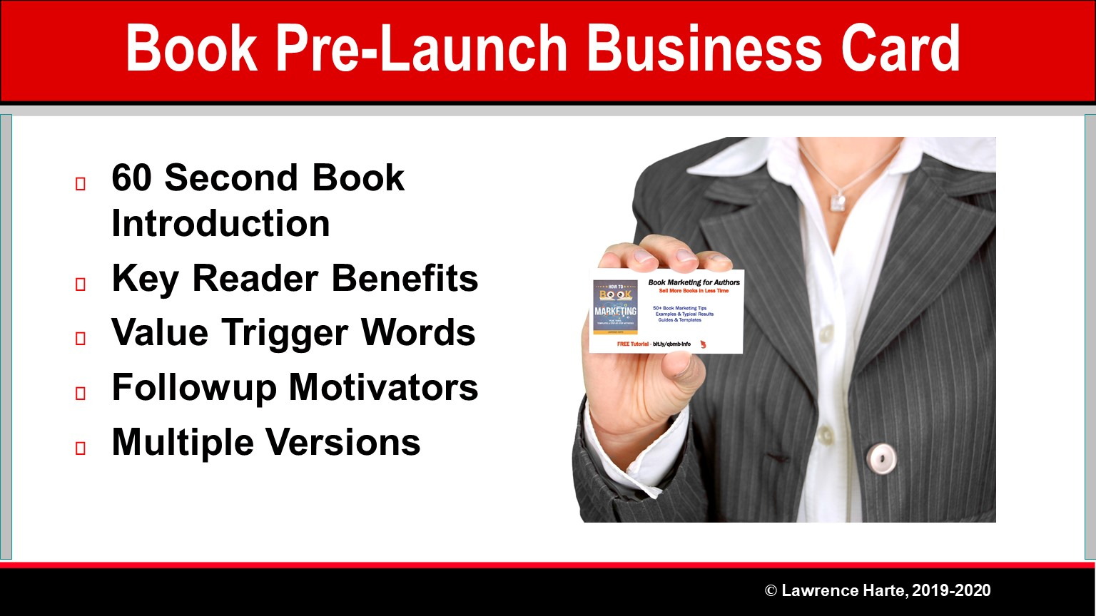 Book Pre-Launch Business Card