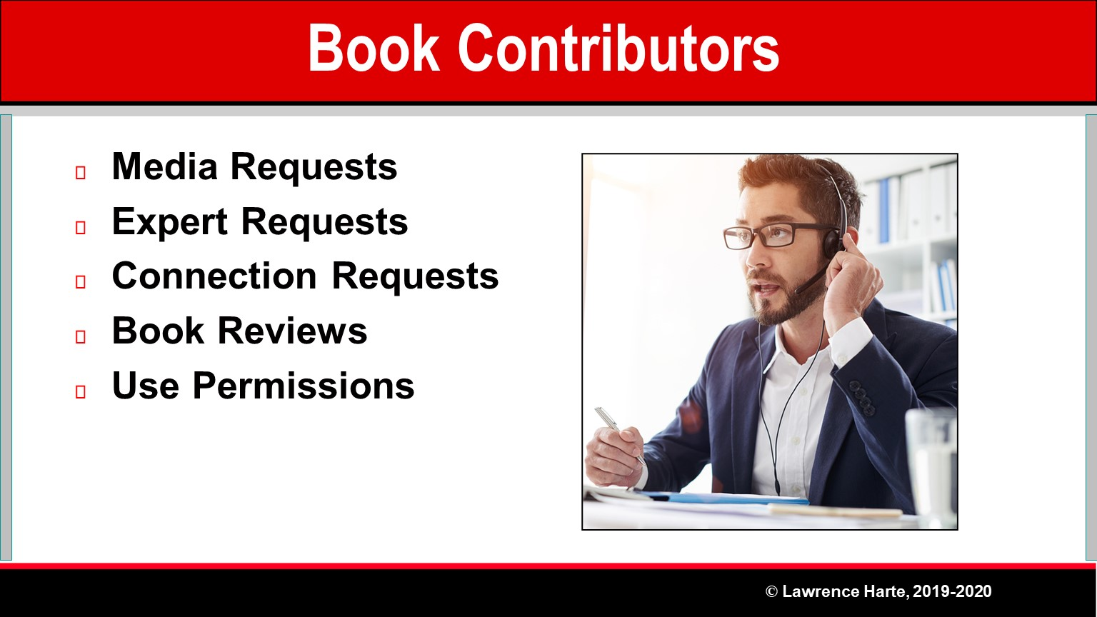 Book Pre-Launch Marketing Contributors