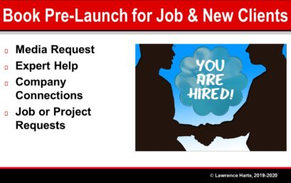Using Book Pre-Launch Marketing to get a Job or New Clients