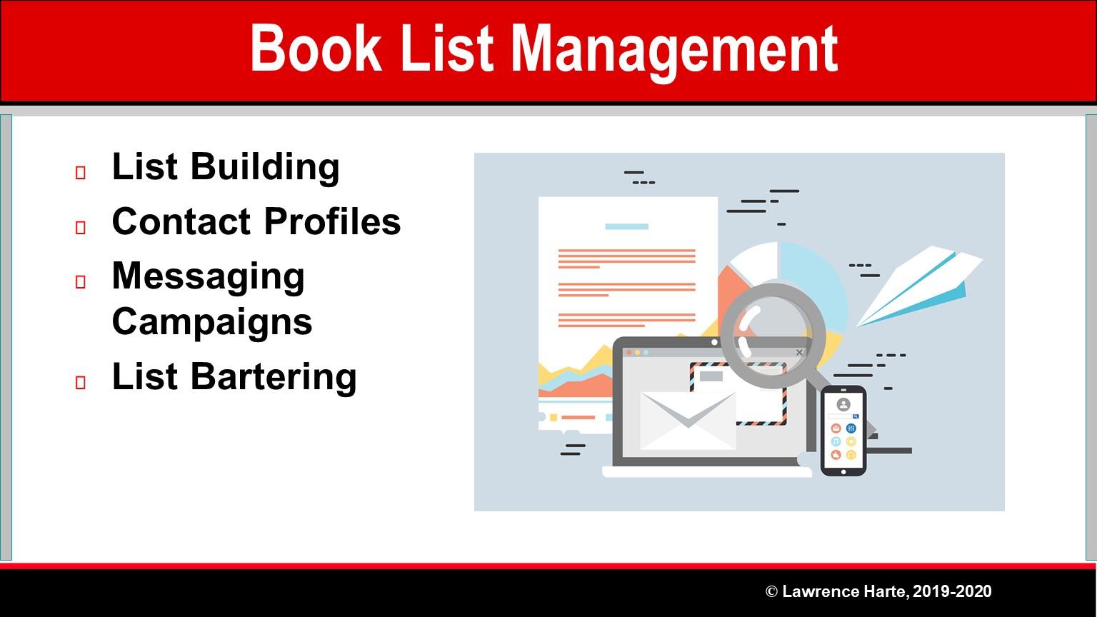 Book Pre-Launch Marketing List Management