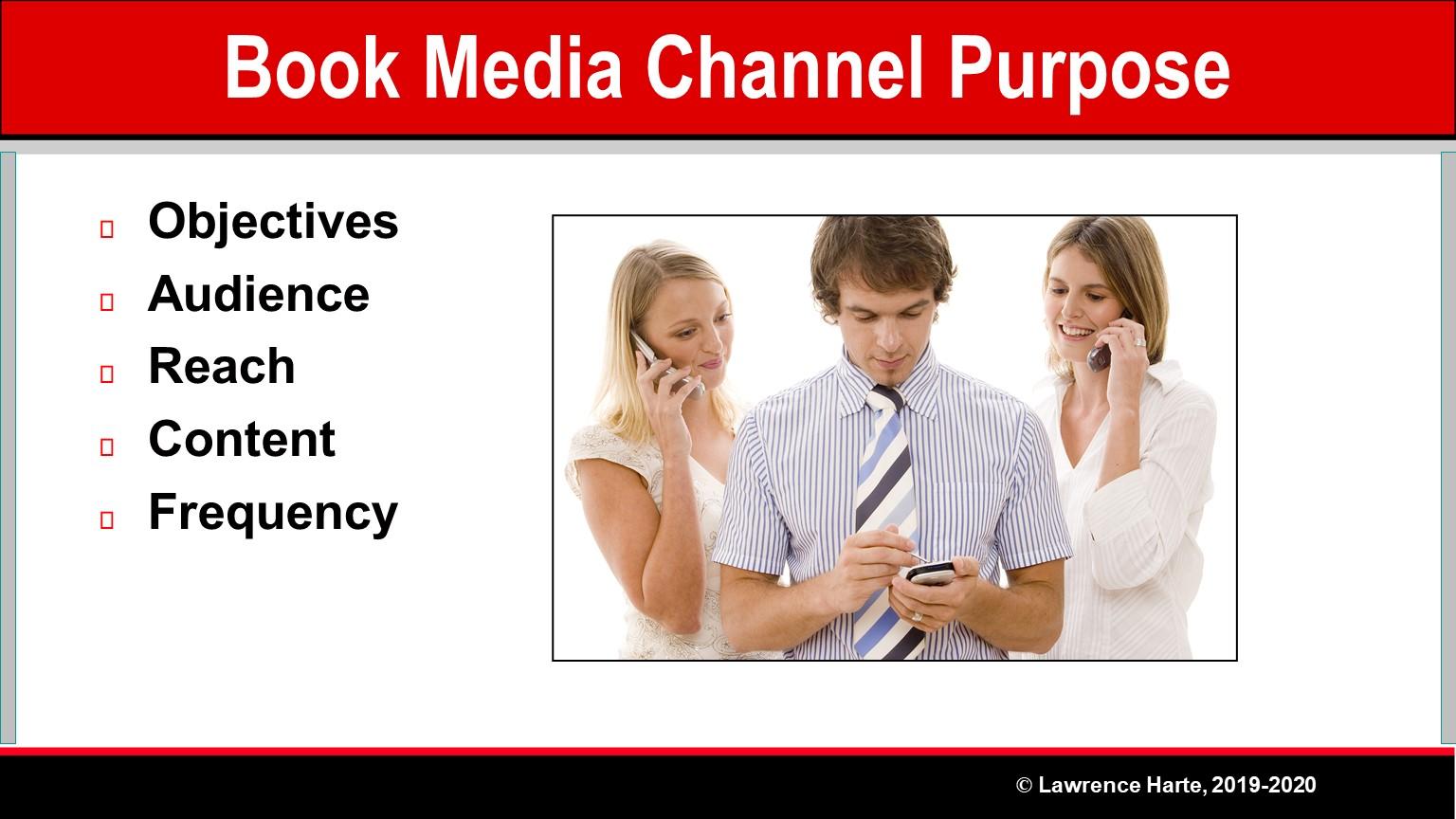 Book Pre-Launch Marketing Media Channel Purpose