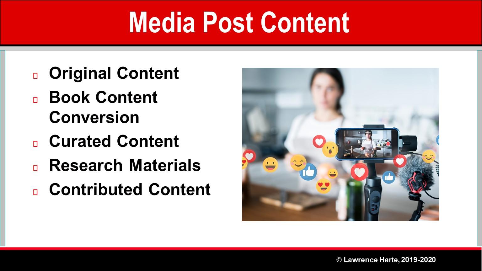 Book Pre-Launch Marketing Media Post Content