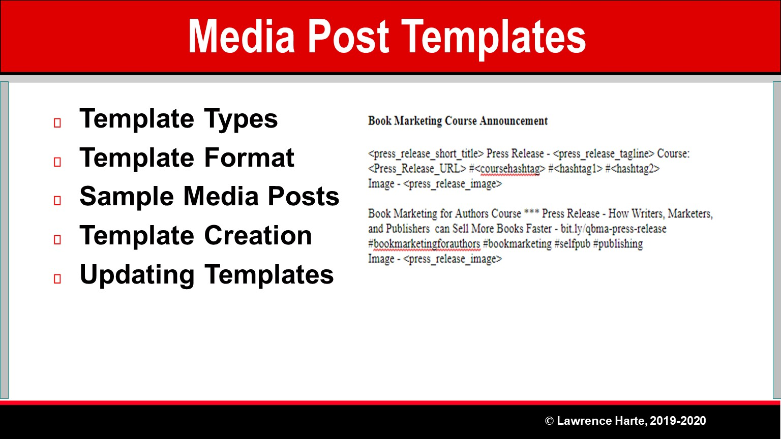 Book Pre-Launch Marketing Media Post Templates