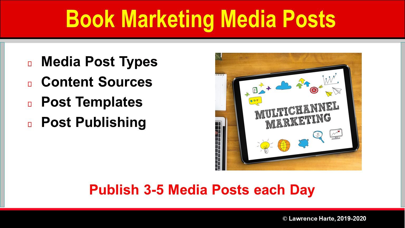 Book Pre-Launch Marketing Media Posts