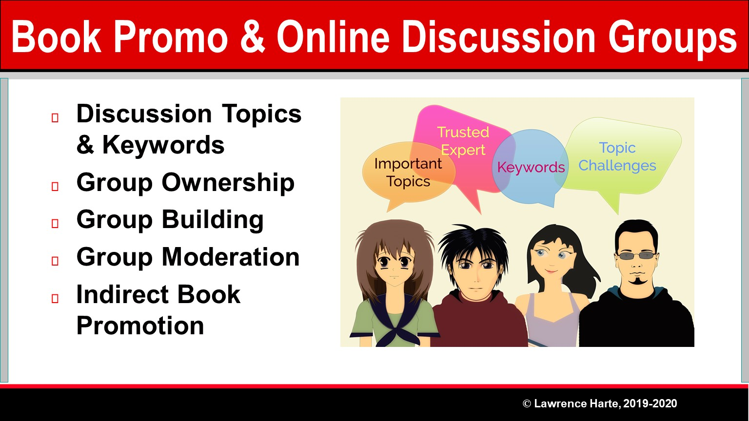 Book Pre-Launch Marketing Online Discussion Groups
