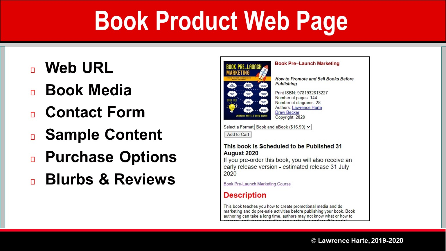 Book Pre-Launch Marketing Product Web Page