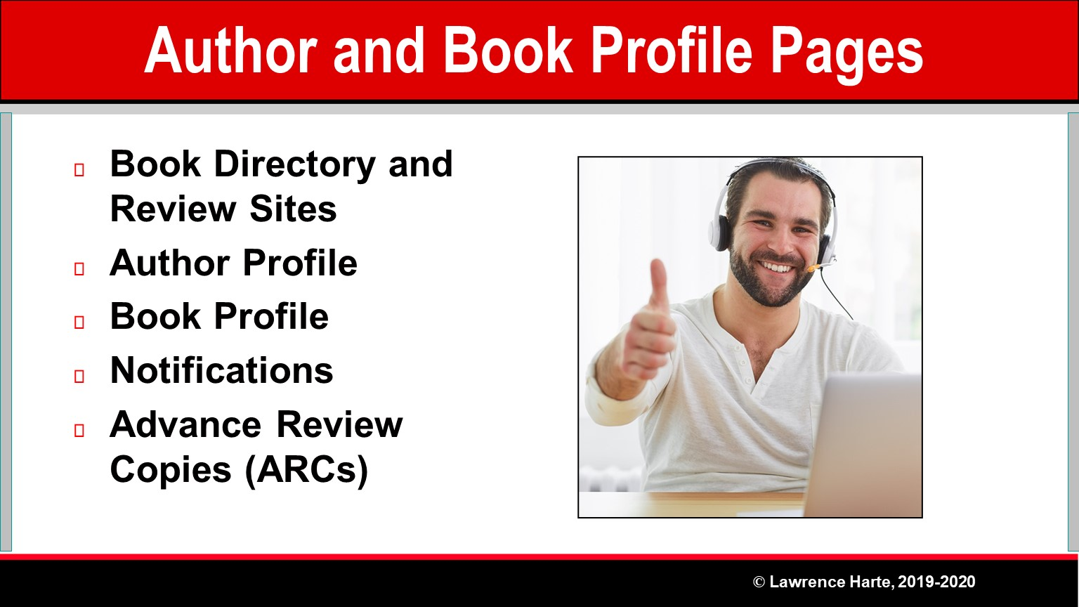 Book Pre-Launch Marketing Author and Book Profile Pages