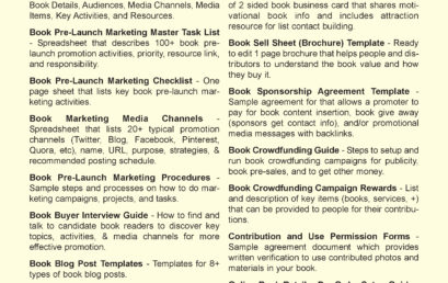 Book Pre-Launch Marketing Guides, Plans, and Templates