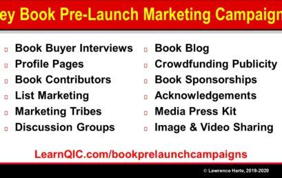 Key Book Pre-Launch Marketing Campaigns