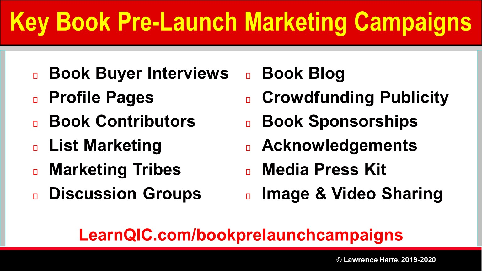 Key Book Pre-Launch Marketing Campaigns