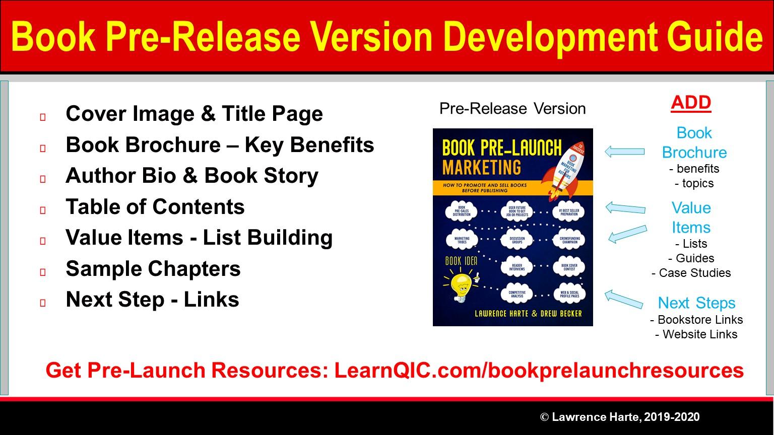 Book Pre-Release Version Development Guide