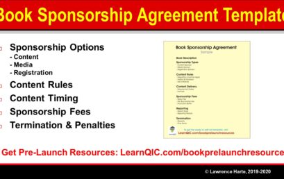 Book Sponsorship Agreement Sample