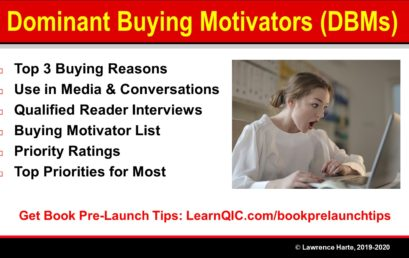 Book Pre-Launch Marketing Dominant Buying Motivators – DBMs