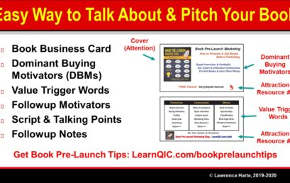 Easy Way for Authors to Talk About and Pitch a Book
