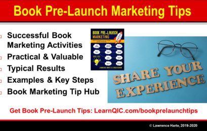 Book Pre-Launch Marketing Tips